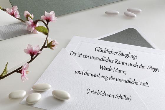 taufspruch von friedrich schiller - bilder - familie.de