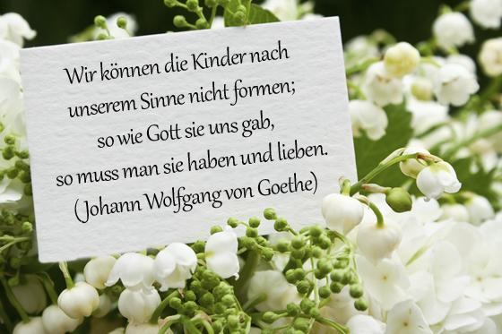 taufsprüche: klassiker von j.w. von goethe - bilder - familie.de