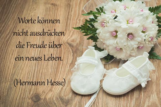 taufspruch von hermann hesse - bilder - familie.de