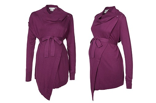 Umstandsmode Winter 13 - Strickjacke bordeaux