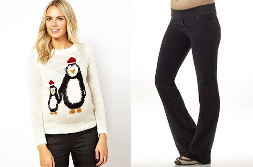 Umstandsmode Winter 13 - Pinguin-Pullover