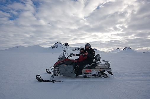 Snowmobile-Tour auf Island