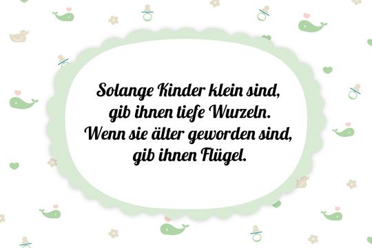glückwünsche zur geburt: wurzeln und flügel - bilder - familie.de