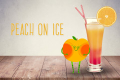 Cocktails für Kinder: Peach on Ice