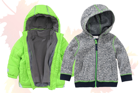 Hellgrüne 3-in-1-Multifunktionsjacke
