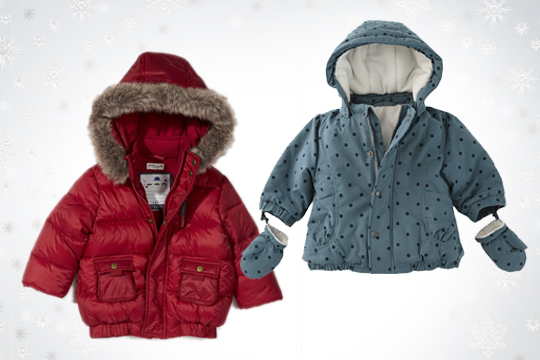 Babymode Winter 2014: Warme Babyjacken