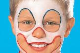 Alle bilder clown schminken step by step anleitung - Clown schminken bilder ...