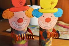 Basteln anleitungen f rs basteln mit kindern - Clown basteln kindergarten ...