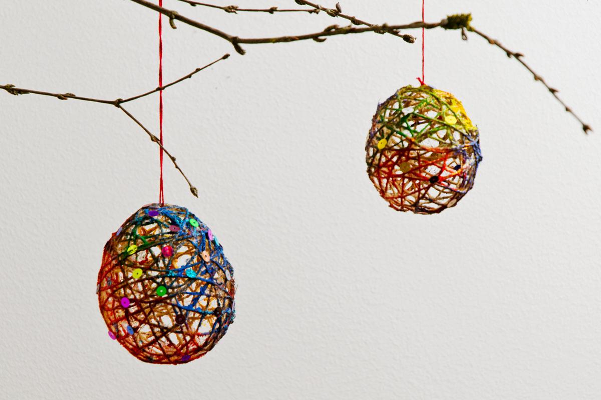 Weihnachtskugeln basteln for Christbaumschmuck basteln