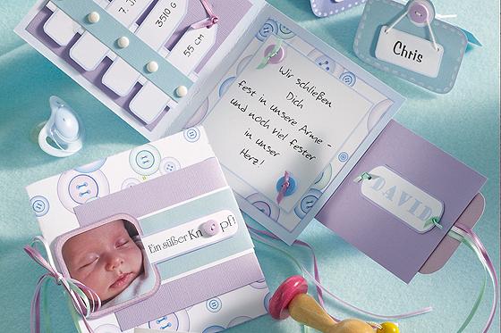 Geburtskarte basteln - Geburtskarten selber machen ...