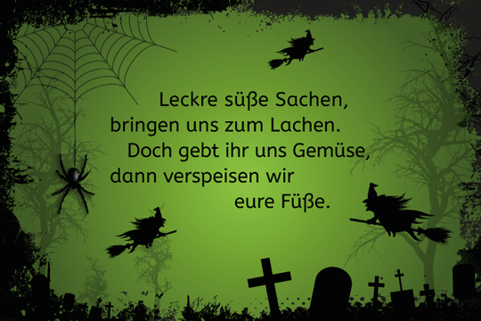 halloween spruch leckre s e sachen bilder. Black Bedroom Furniture Sets. Home Design Ideas