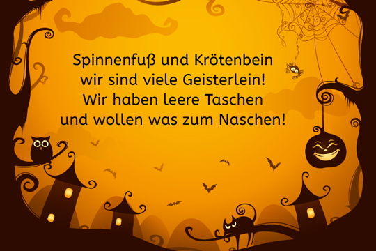 halloween spruch spinnenfu und kr tenbein bilder. Black Bedroom Furniture Sets. Home Design Ideas