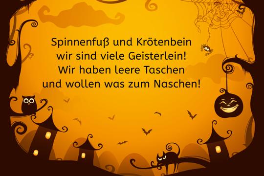 Spinnenfuß Und Krötenbein   Lustige Halloween Sprüche