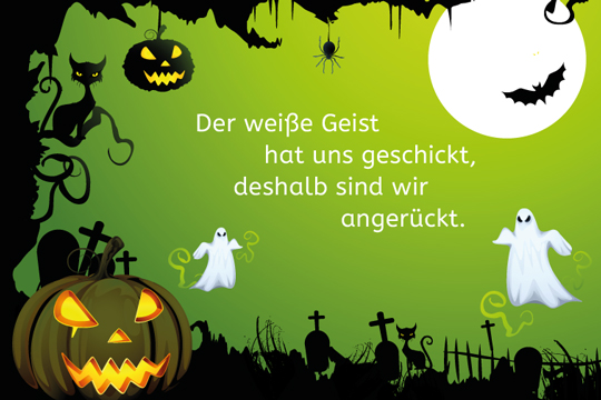 halloween spruch der wei e geist bilder. Black Bedroom Furniture Sets. Home Design Ideas