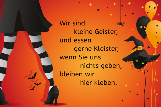 halloween spruch wir sind kleine geister bilder. Black Bedroom Furniture Sets. Home Design Ideas