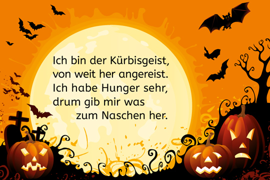 halloween spruch ich bin der k rbisgeist bilder. Black Bedroom Furniture Sets. Home Design Ideas
