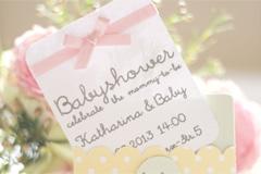 selbstgebastelte einladung zur baby-shower - bilder - familie.de, Einladung
