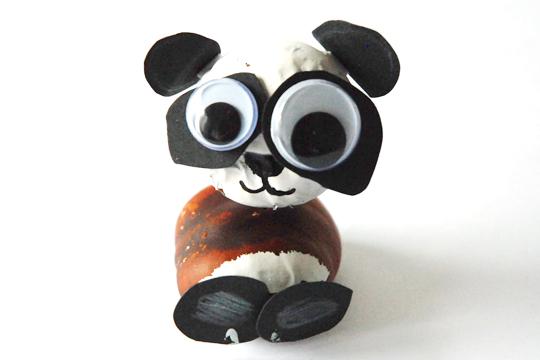 Panda aus kastanien bilder - Bastelideen kastanien ...