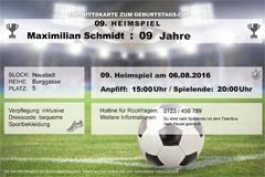 fußball-party zum kindergeburtstag - familie.de, Einladung