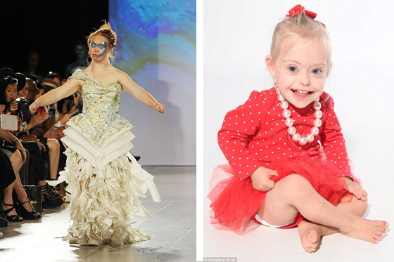 Kindermodels mit Down-Dyndrom: Madeleine Stuart und Connie-Rose