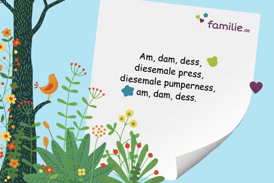 Kinderreime: Am, dam, dess