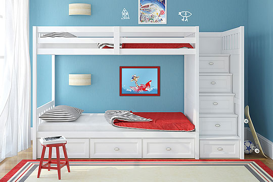 kinderzimmer gestalten stauraum schaffen bilder. Black Bedroom Furniture Sets. Home Design Ideas