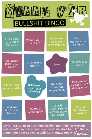 Mommy Wars Bullshit Bingo