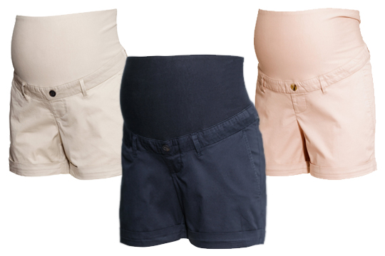 Umstandsmode Sommer 2015: Chino-Shorts