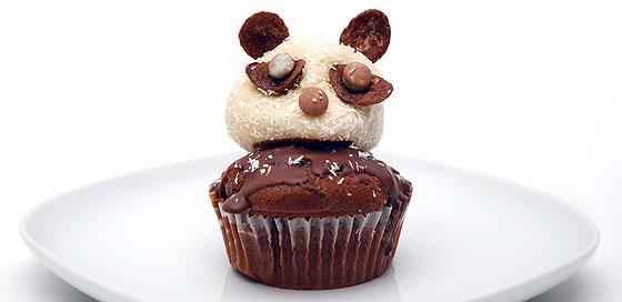 Kindergeburtstag-Rezept: Pandabär Cupcakes - Familie.de