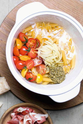 One Pot Pasta mit Cocktailtomaten