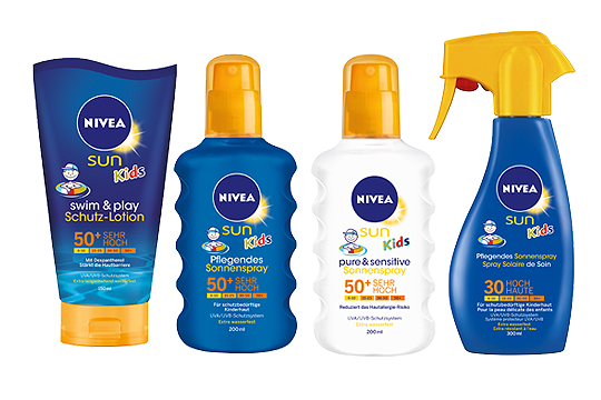Nivea Sun Kids Lotion und Spray