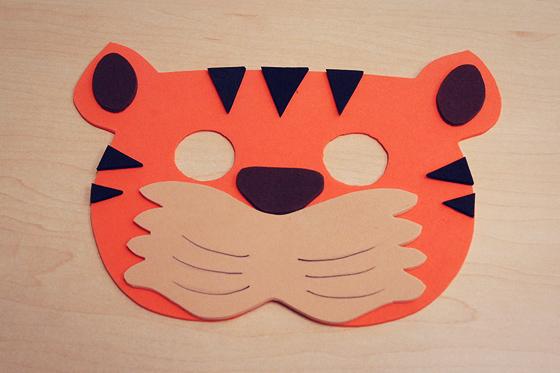 Fasching Basteln Vorlagen tiger maske basteln für fasching familie de