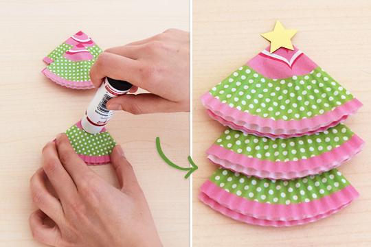 Muffin f rmchen zum baum werden lassen bilder - Weihnachtsgirlande basteln ...