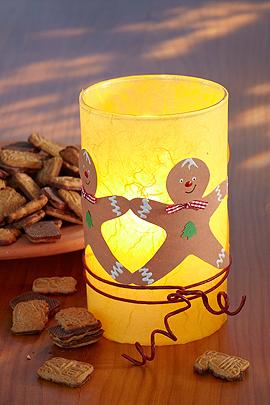 Windlicht Basteln glas windlicht basteln mit lebkuchenmännern familie de