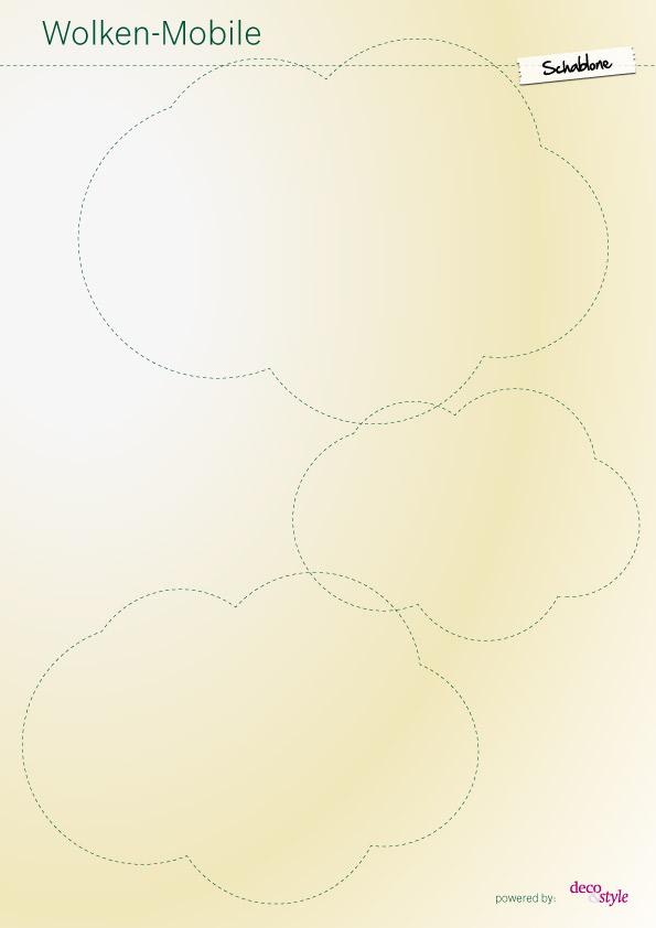 mobile wolken basteln schritt f r schritt. Black Bedroom Furniture Sets. Home Design Ideas