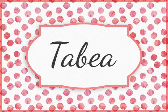 Seltene Mädchennamen Tabea