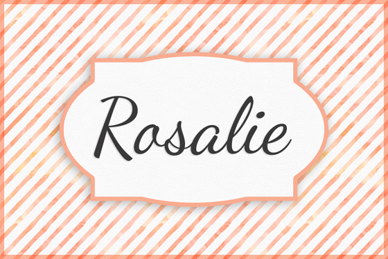 Seltene Mädchennamen Rosalie