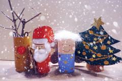 Weihnachtsdeko aus Klorollen