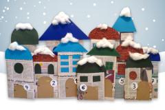 Papierhäuser-Adventskalender