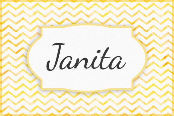 Seltene Mädchennamen Janita