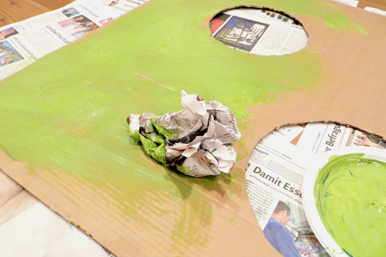 Torwand bauen grün anmalen