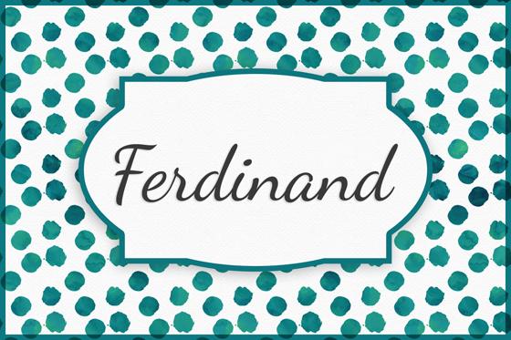 Seltene Jungennamen Ferdinand