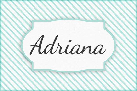Seltene Mädchennamen Adriana