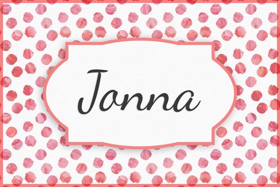 Seltene Mädchennamen: Jonna