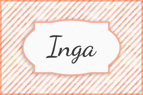 Seltene Mädchennamen Inga