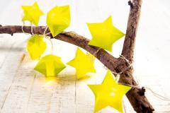 Sterne batseln für Lichterkette