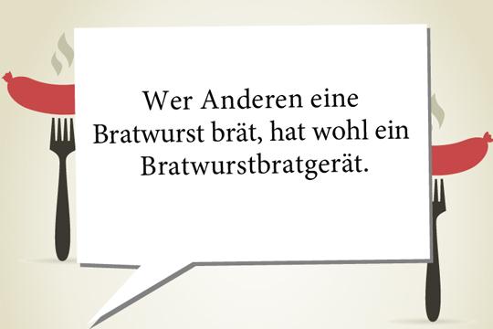 Zungenbrecher: Bratwurst