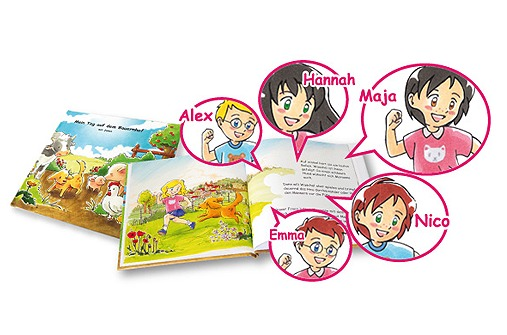 Ausgefallene Geschenkideen - Personalisiertes Kinderbuch