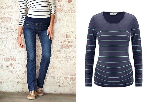 Umstandsmode Winter 13 - Jeans und Shirt