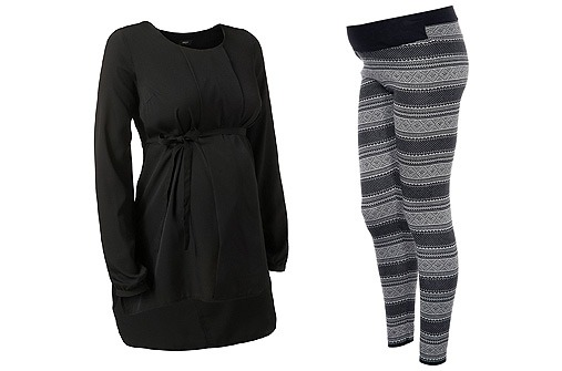 Umstandsmode Winter 13 - Leggins Norweger Muster